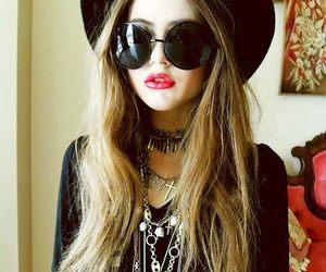 girl, cool, and glasses image