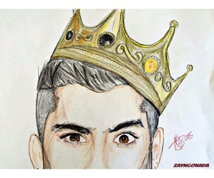 zayn malik, art, and king image