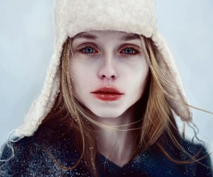 girl and cold image