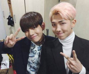 bts, rap monster, and v image
