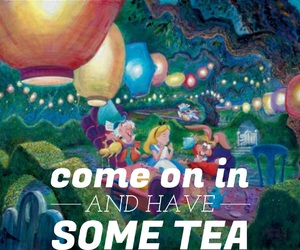 alice in wonderland, cartoons, and drinks image