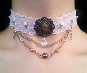 cameo, steampunk, and sweet lolita image