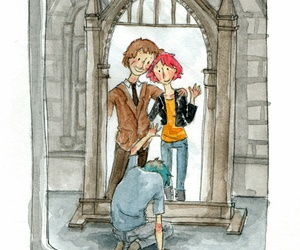 harry potter, tonks, and lupin image