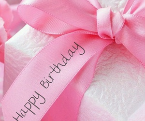 gift, pink, and ribbon image