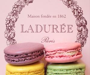 laduree, macaroons, and macarons image