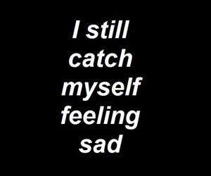 sad, quote, and black image