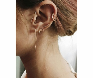 earrings, cartilage, and tragus image