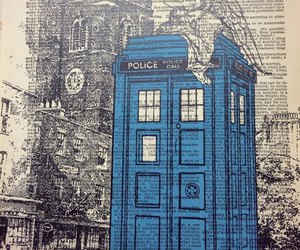 doctor who and the tardis image