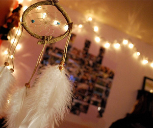 lights, photography, and dream catcher image