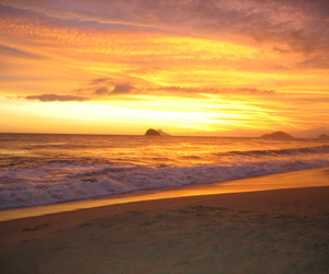 beach, sunset, and vyer image