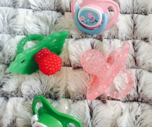 pacifier, little space, and paci image