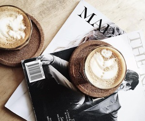 coffee, magazine, and cappuccino image