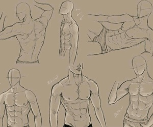 male body, reference, and tutorials image