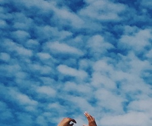 blue, hands, and sky image