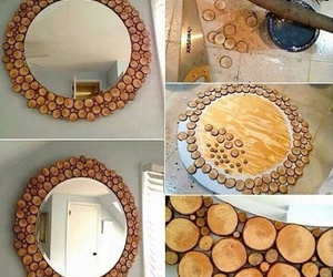 diy, mirror, and wood image