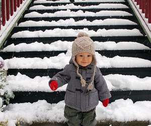 winter, snow, and baby image