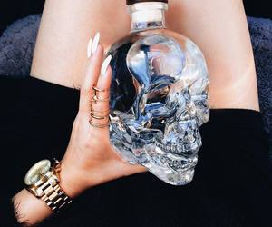 skull, nails, and black image