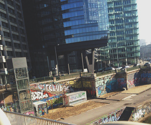 building, graffiti, and travel image