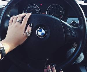 black, bmw, and gold image