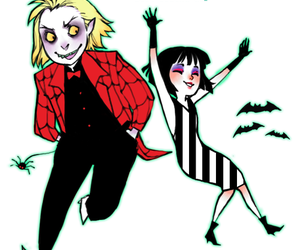 beetlejuice, tim burton, and stripes image