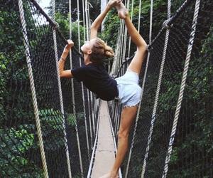 girl, yoga, and fitness image