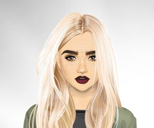 dressup, eyebrows, and long hair image