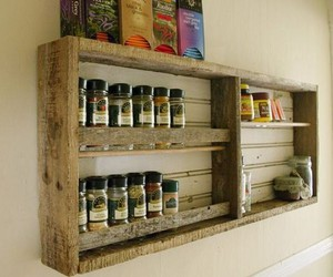 kitchen shelves, pallet ideas, and wooden pallet image