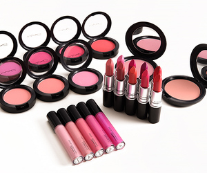 blush, makeup, and pink image