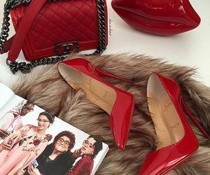 heels, bag, and chanel image