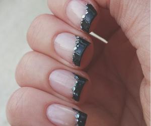 black, girly, and glitter image