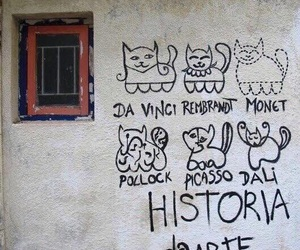 art, cat, and picasso image