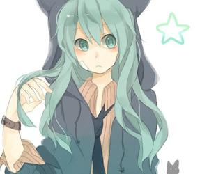 anime girl and miku fanart image