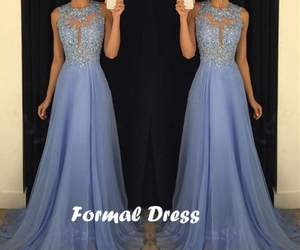 evening dress, lace, and Prom image