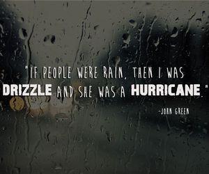 john green, quotes, and rain image