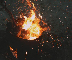 autumn, bonefire, and fire image