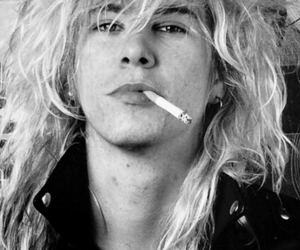 Guns N Roses, black and white, and duff mckagan image