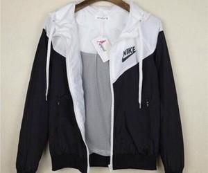 nike, jacket, and black image