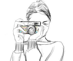 girl, art, and camera image