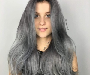 color, girl, and grey image