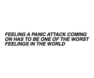 anxiety, panic attack, and panic image