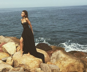 zendaya, dress, and black image