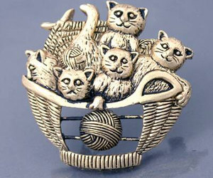 brooch, kitties, and kitty cats image