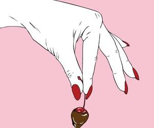 pink, cherry, and chocolate image