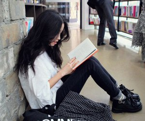 book, style, and ulzzang image