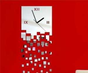 clock, wall, and creative image
