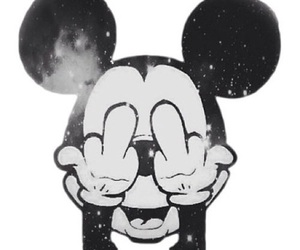animals, grunge, and mickey mouse image