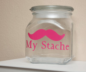 mustache, jar, and stache image