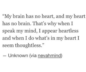 quotes, heart, and thoughts image