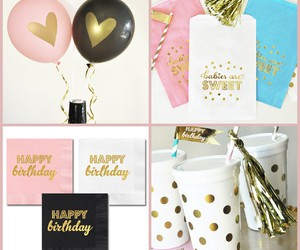 balloon, birthday, and napkin image