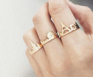 rings, gold, and london image
